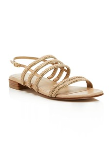 Stuart Weitzman Linedrive Braided Chain Sandals