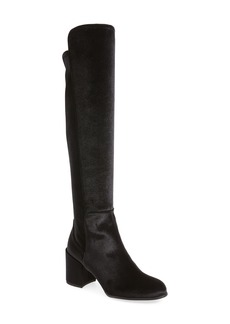 Stuart Weitzman Lowjack Over the Knee Stretch Velvet Boot (Women)