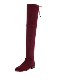 Stuart Weitzman Lowland Stretch-Suede Over-the-Knee Boot