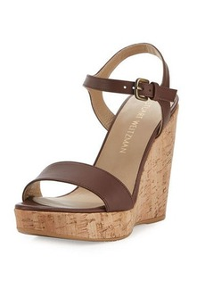 Stuart Weitzman Marry Me Cork Wedge Platform Sandal