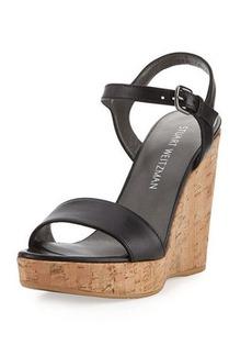 Stuart Weitzman Marry Me Cork Wedge Platform Sandal