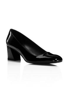 Stuart Weitzman Marymid Patent Leather Block Heel Pumps