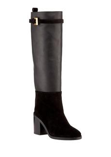 Stuart Weitzman Morrison Chic Leather/Suede Knee Boot