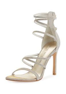 Stuart Weitzman Myex Strappy Shimmery Sandal