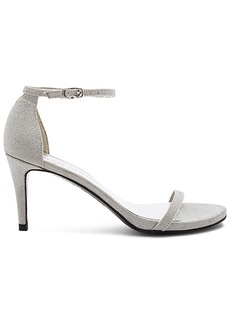 Stuart Weitzman Naked Heel in Metallic Silver. - size 7.5 (also in 8.5,9)