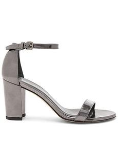 Stuart Weitzman Nearlynude Heel in Metallic Silver. - size 7.5 (also in 7,8,9.5,10)