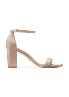 Stuart Weitzman Nearlynude Sandals, Dolce Taupe Leather, Size: 9.5 Narrow
