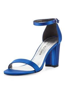 Stuart Weitzman Nearlynude Satin City Sandal