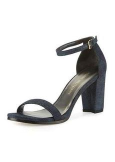 Stuart Weitzman Nearlynude Suede City Sandal