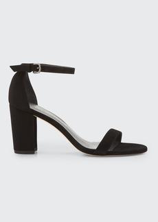 Stuart Weitzman Nearlynude Suede City Sandals