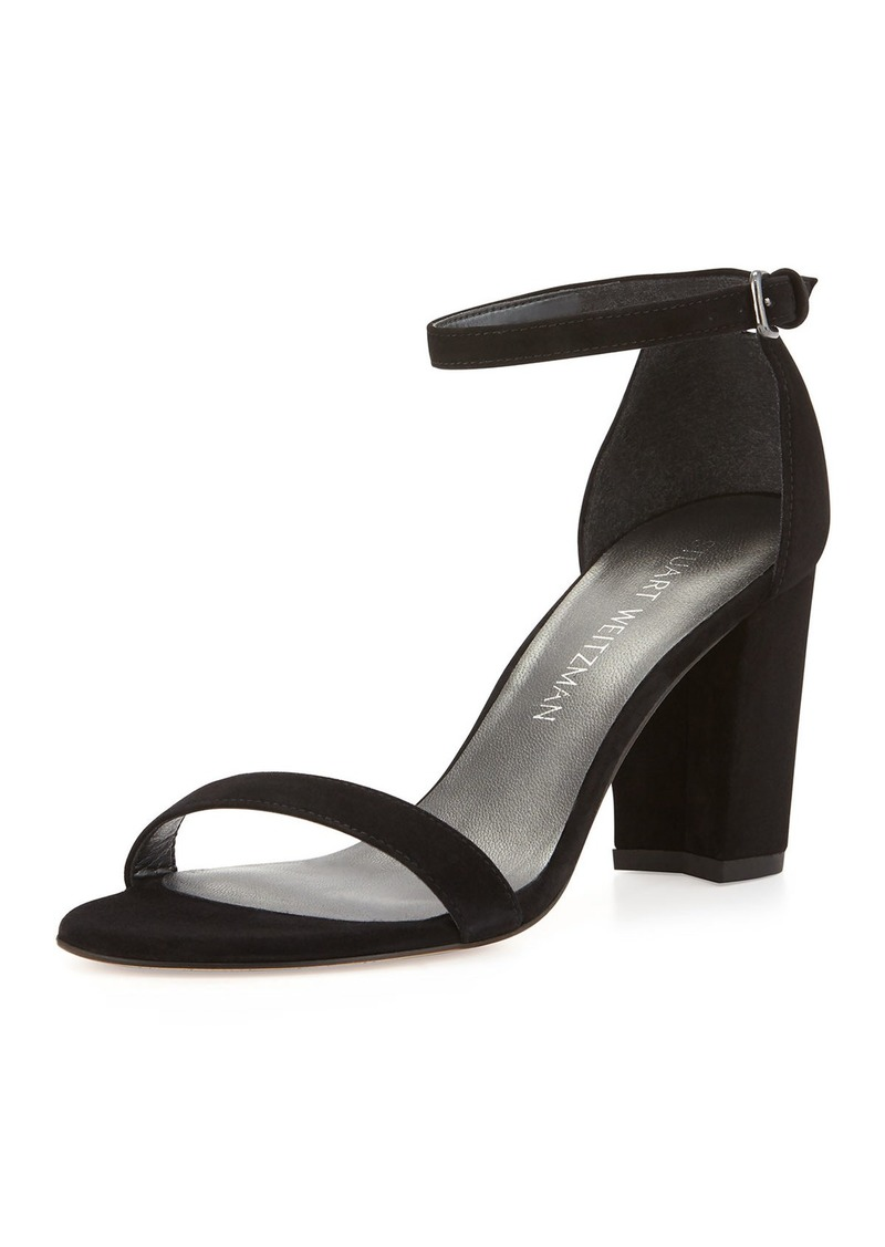 Stuart Weitzman Nearlynude Suede City Sandals