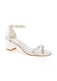 Stuart Weitzman Nearlynude/Simple Ankle Strap Sandal (Women)