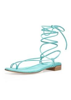 Stuart Weitzman Nieta Striped Lace-Up Sandal