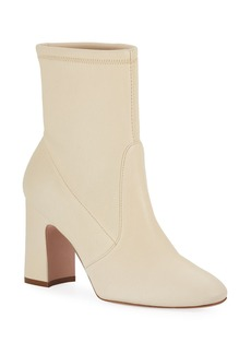 Stuart Weitzman Niki Block-Heel Leather Booties