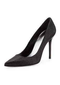 Stuart Weitzman Nouveau Metallic Pointy-Toe Pump
