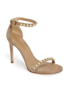 Stuart Weitzman Nudistpearls Embellished Sandal (Women)