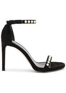 Stuart Weitzman Nudistpearls Heel in Black. - size 10 (also in 6.5,7,7.5,8,8.5,9.5)