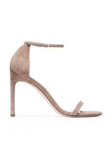 Stuart Weitzman Nudistsong Sandals, Black Suede, Size: 9.5 Wide