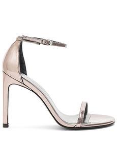 Stuart Weitzman Nudistsong Heel in Metallic Silver. - size 10 (also in 6,6.5,7,7.5,8,8.5,9,9.5)