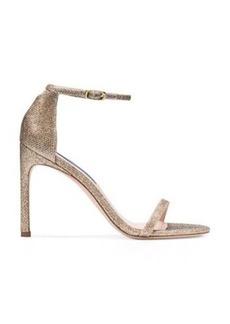 Stuart Weitzman Nudistsong Sandals, Platinum Noir, Size: 10 Wide