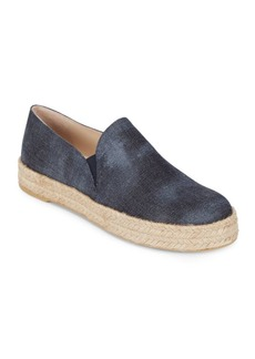 Stuart Weitzman Nugal Leather Espadrille Skate Sneakers