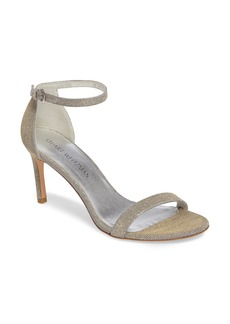 Stuart Weitzman 'Nunaked' Leather Ankle Strap Sandal (Women)