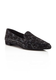 Stuart Weitzman Pipelopez Embossed Loafers