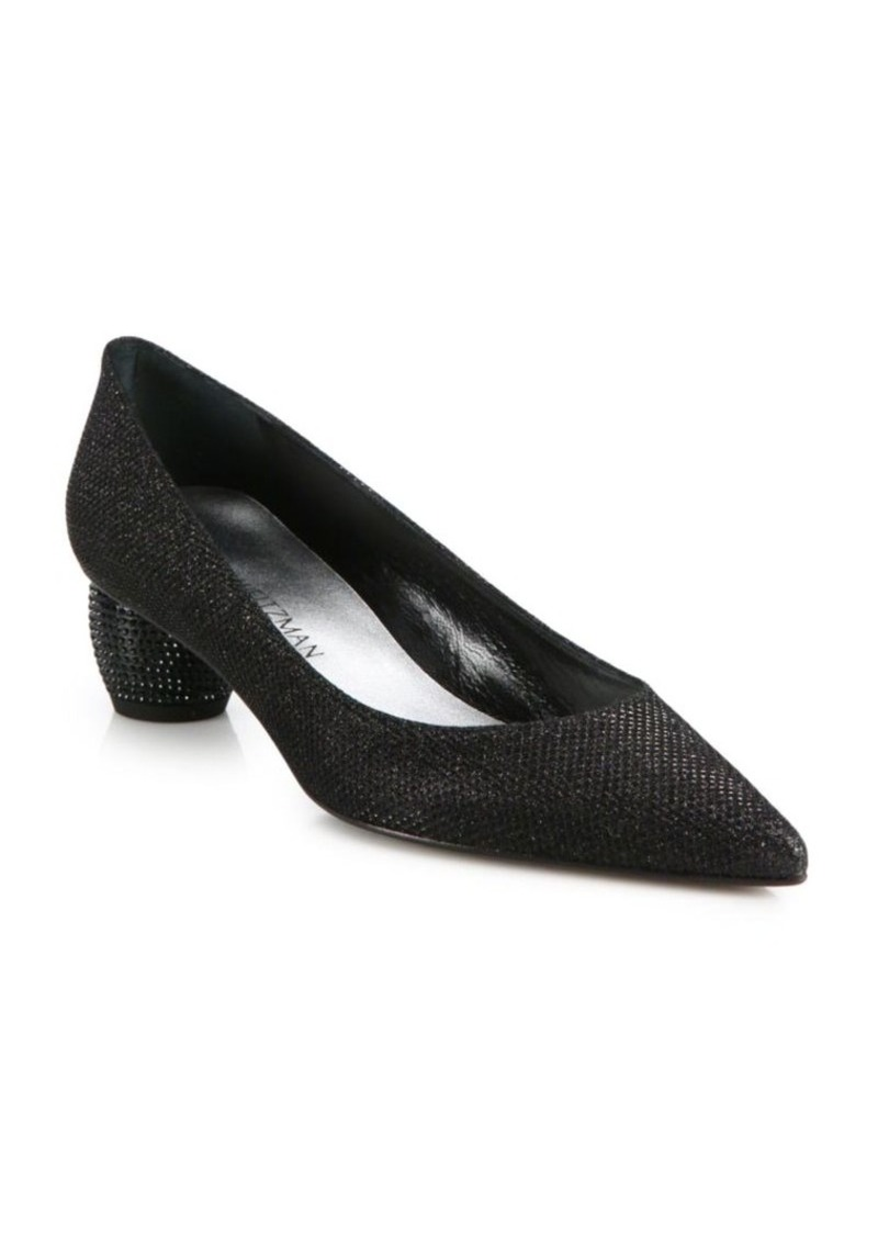 e9df63fceaf On Sale today! Stuart Weitzman Stuart Weitzman Poco Globe Mid-Heel Pumps