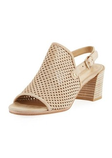 Stuart Weitzman Popular Perforated Slingback Sandal