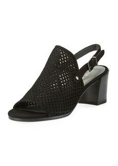 Stuart Weitzman Popular Perforated Suede Sandal