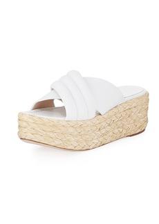 Stuart Weitzman Pufftopraffia Woven Wedge Platform Sandal