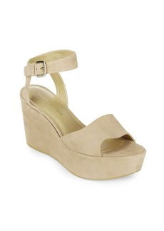Stuart Weitzman Realdeal Leather Wedge Sandals