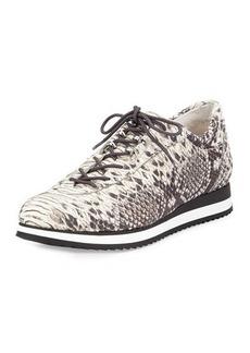 Stuart Weitzman Relay Snake-Embossed Sneaker