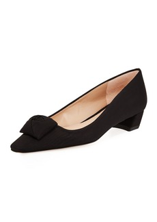 Stuart Weitzman Rose Low-Heel Grosgrain Pump