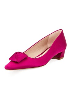 Stuart Weitzman Rose Low-Heel Satin Pump