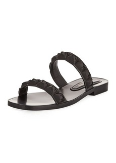 Stuart Weitzman Rosita Two-Band Slide Sandal