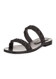Stuart Weitzman Rosita Two-Band Slide Sandals