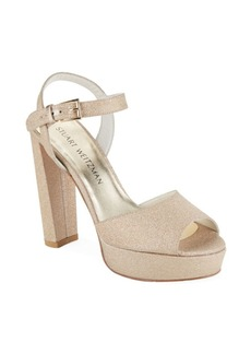 Stuart Weitzman Sashay Peep Toe Platform Sandals