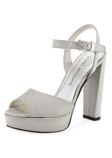 Stuart Weitzman Sashay Shimmery Dressy Sandal