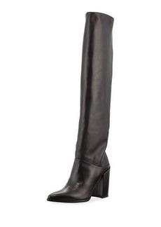 Stuart Weitzman Scrunchy Napa Leather Knee Boot