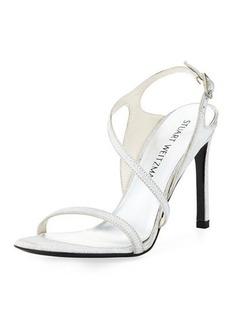 Stuart Weitzman Sensual Metallic Dressy Sandal