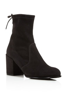 Stuart Weitzman Shorty Suede Block Heel Booties
