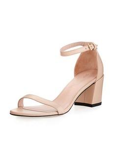 Stuart Weitzman Simple Napa Chunky-Heel City Sandal