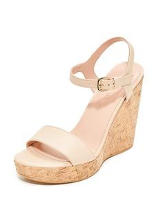 Stuart Weitzman Single Wedge Sandals