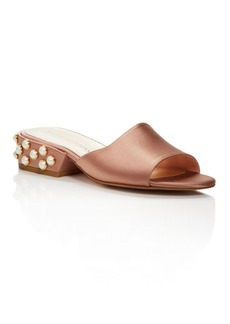 Stuart Weitzman Sliderpearl Satin Slide Sandals - 100% Exclusive