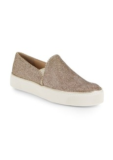 Stuart Weitzman Slip-On Metallic Platform Sneakers
