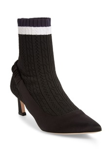 Stuart Weitzman Sockette Tipped Stretch Knit Bootie (Women)
