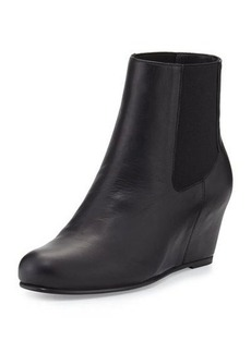 Stuart Weitzman Socks Leather Wedge Bootie