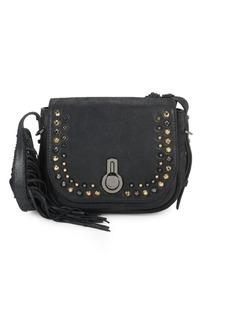 Stuart Weitzman Soho Fringed Leather Crossbody Bag