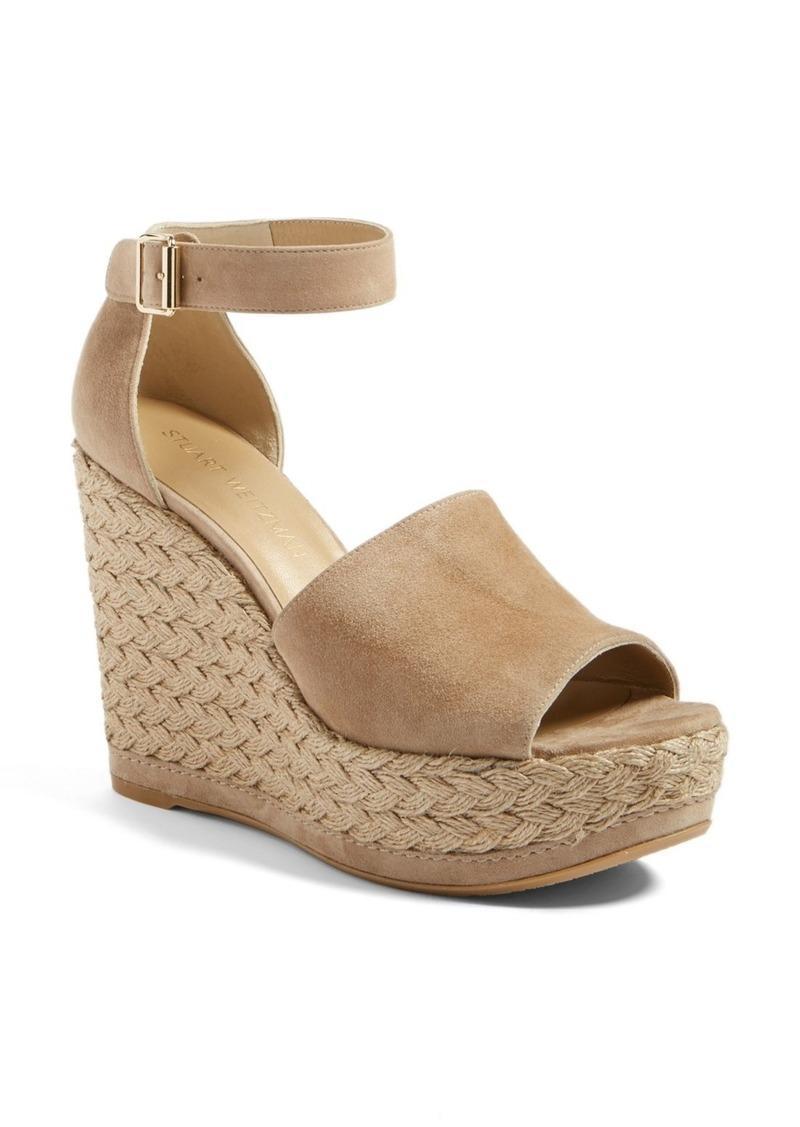 Stuart Weitzman Sohojute Platform Wedge Sandal (Women)